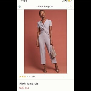 NWT Anthropologie Jumpsuit Large in Black